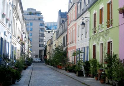 Jolies maisons colorées