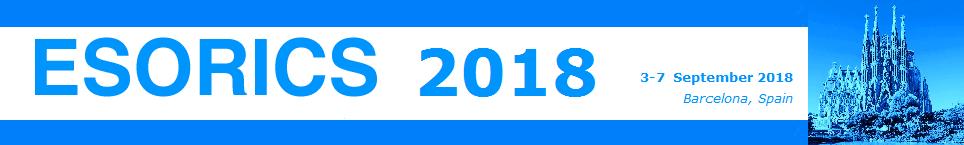 Banner ESORICS 2018