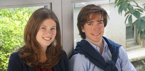 Clémentine et Karoly 2 étudiants