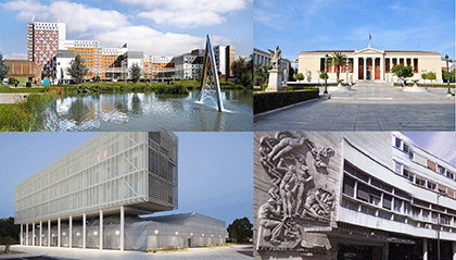 Photo montage des sites des quatre partenaires