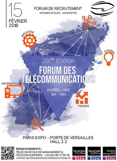 Affiche de la 26e édition du Forum des Télécommunications