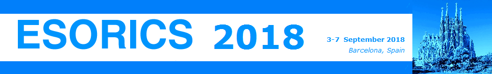 Bannière ESORICS 2018