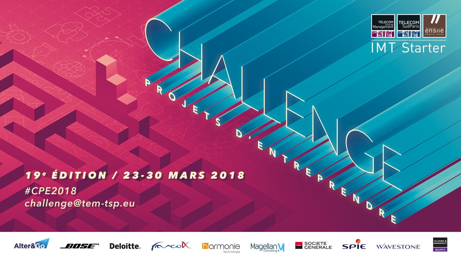 Affiche du Challenge Projets d'Entreprendre