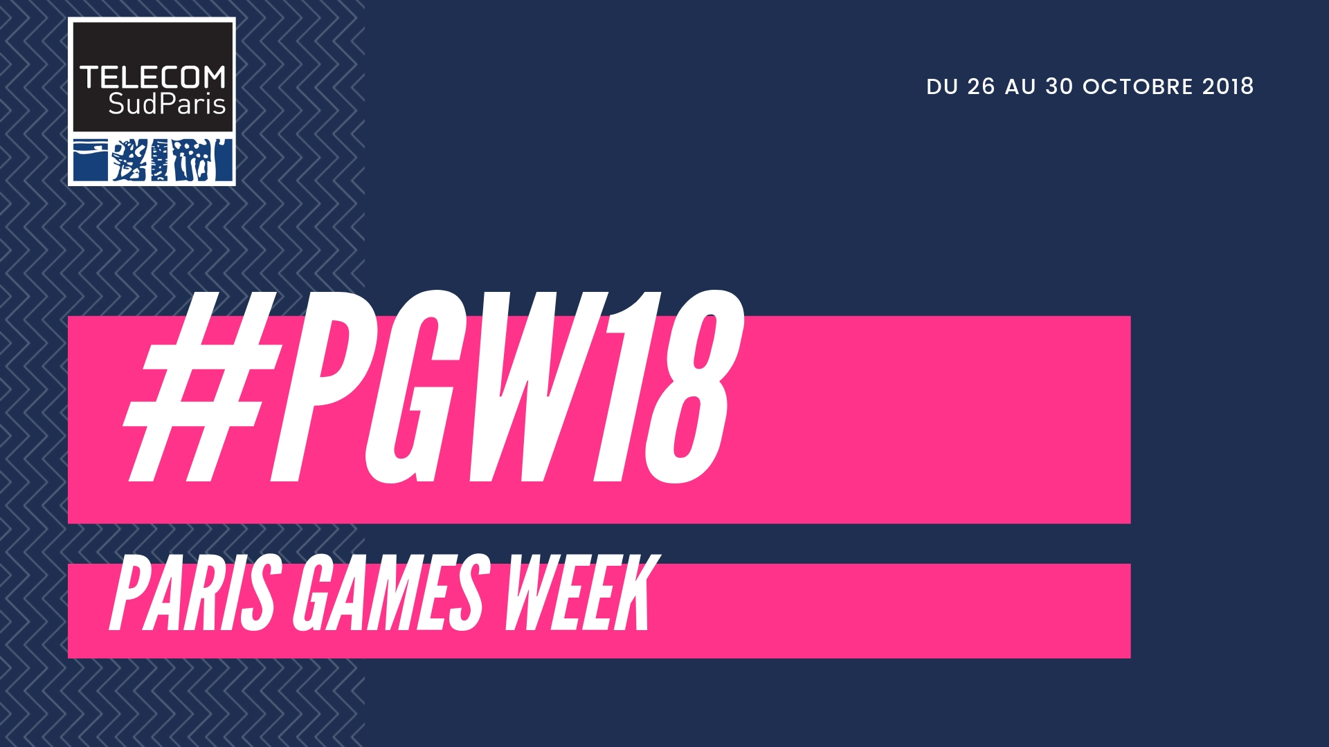 Affiche Paris Games Week 2018 avec hastag #PGW18