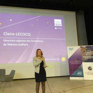 Claire Lecocq lors de la semaine de l'innovation 2019
