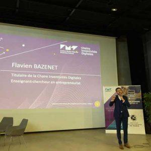 Flavien Bazenet lors de la semaine de l'innovation 2019