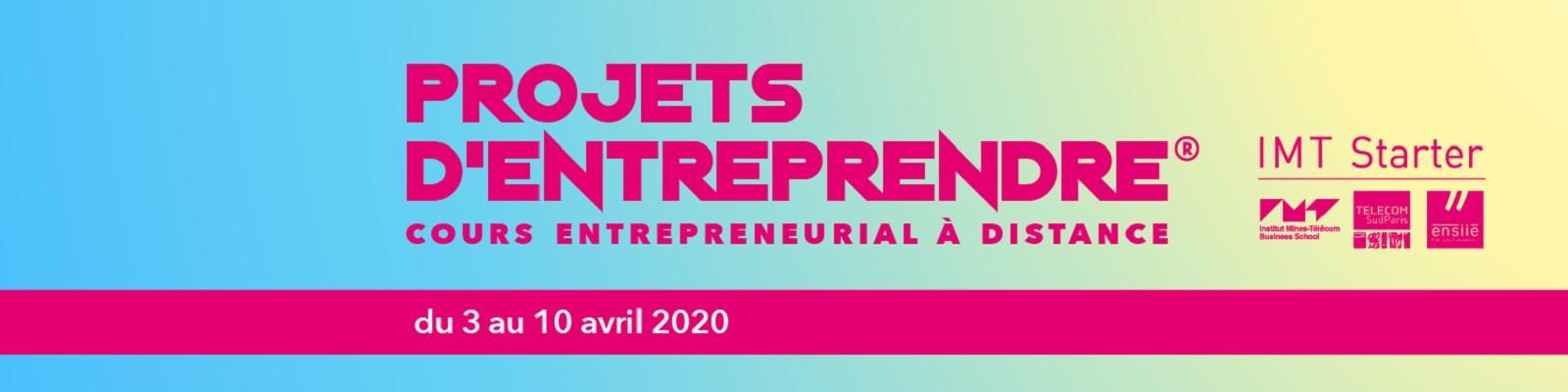 Projets d'Entreprendre, le cours massif à distance d'entrepreneuriat en groupe
