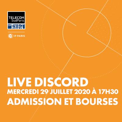 Live Session sur Discord : spécial Admission et bourses
