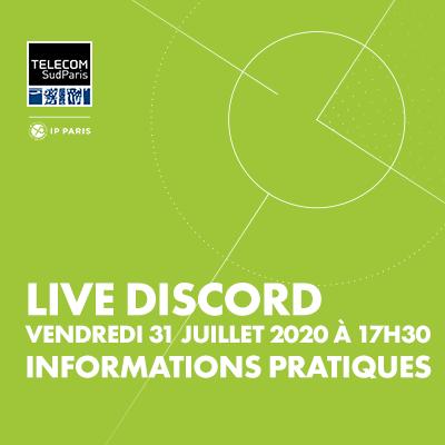 Live Session sur Discord : spécial informations pratiques