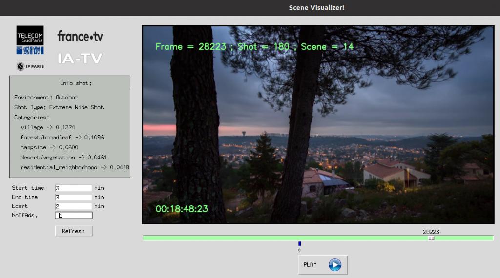 Visualisation de l'application IA TV