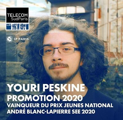 Youri PESKINE remporte le premier prix SEE André Blanc-Lapierre 2020