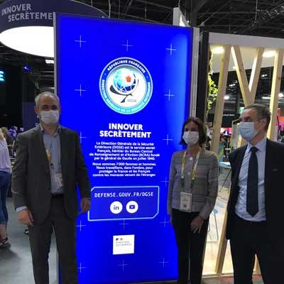 De gauche à droite : François Dellacherie, directeur Télécom SudParis ; Odile Gauthier, directrice générale Institut Mines-Télécom et Patrick Pailloux, directeur technique de la DGSE